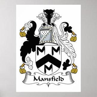Escudo de la familia de Mansfield Posters