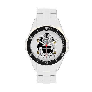 Escudo de la familia de Mansfield Reloj