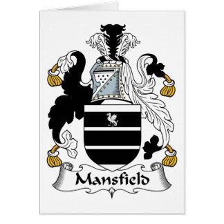 Escudo de la familia de Mansfield Tarjeta De Felicitación