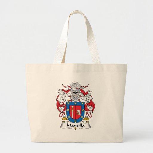 Escudo de la familia de Mansilla Bolsa De Tela Grande