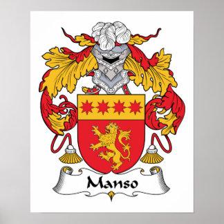 Escudo de la familia de Manso Poster