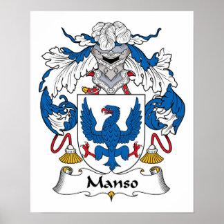 Escudo de la familia de Manso Posters
