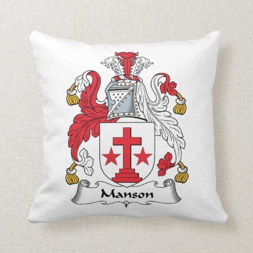 Escudo de la familia de Manson Almohada