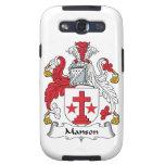 Escudo de la familia de Manson Samsung Galaxy S3 Protectores