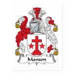 Escudo de la familia de Manson Postal