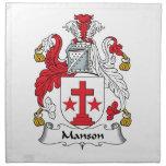 Escudo de la familia de Manson Servilletas Imprimidas