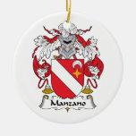 Escudo de la familia de Manzano Ornatos