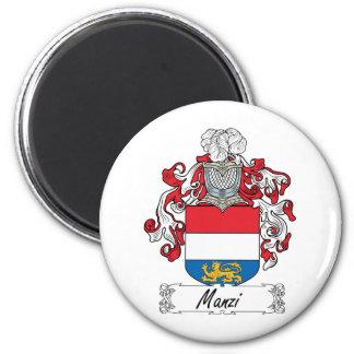 Escudo de la familia de Manzi Imán Redondo 5 Cm