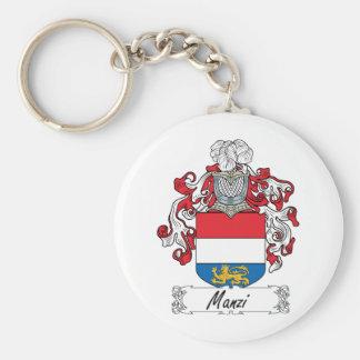 Escudo de la familia de Manzi Llavero Redondo Tipo Pin