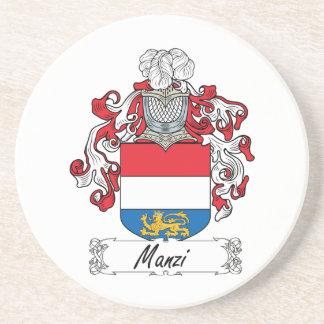 Escudo de la familia de Manzi Posavaso Para Bebida
