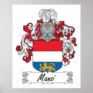 Escudo de la familia de Manzi Póster
