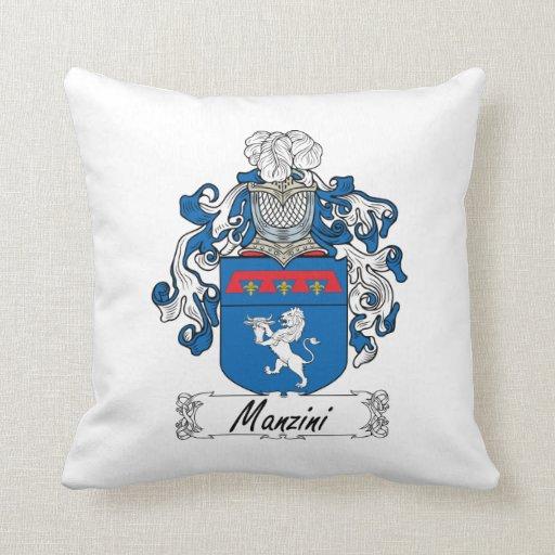 Escudo de la familia de Manzini Almohada