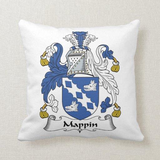 Escudo de la familia de Mappin Almohadas