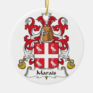 Escudo de la familia de Marais Adornos De Navidad