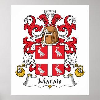 Escudo de la familia de Marais Impresiones