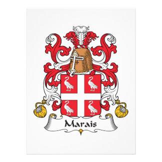 Escudo de la familia de Marais Invitación