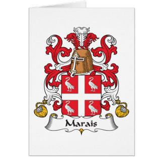 Escudo de la familia de Marais Tarjetón