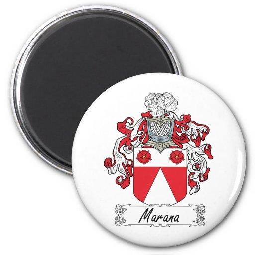 Escudo de la familia de Marana Imanes De Nevera