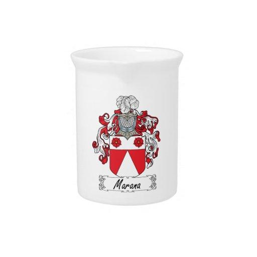 Escudo de la familia de Marana Jarra Para Bebida