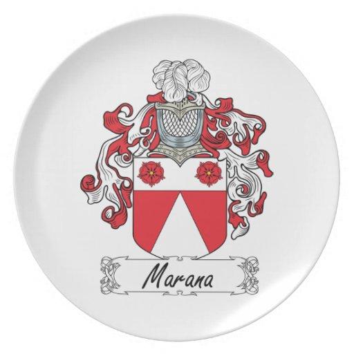 Escudo de la familia de Marana Platos