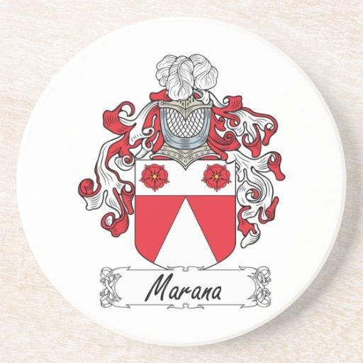 Escudo de la familia de Marana Posavasos Para Bebidas