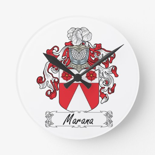 Escudo de la familia de Marana Reloj