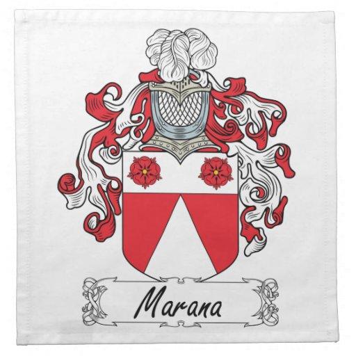 Escudo de la familia de Marana Servilletas De Papel