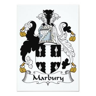 """Escudo de la familia de Marbury Invitación 5"""" X 7"""""""