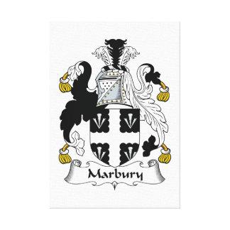 Escudo de la familia de Marbury Impresión De Lienzo