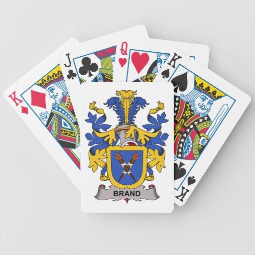 Escudo de la familia de marca cartas de juego