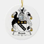 Escudo de la familia de marca ornaments para arbol de navidad