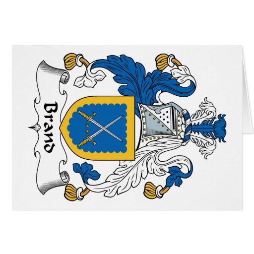 Escudo de la familia de marca tarjeton