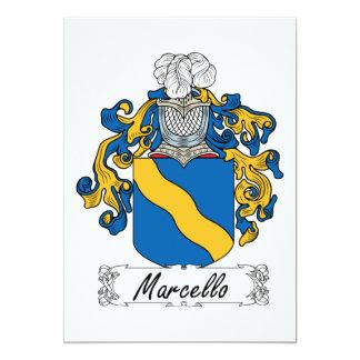Escudo de la familia de Marcelo Invitación Personalizada