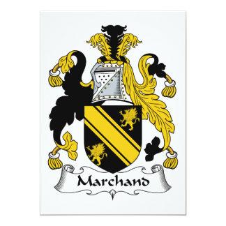 """Escudo de la familia de Marchand Invitación 5"""" X 7"""""""