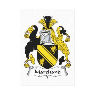 Escudo de la familia de Marchand Impresión De Lienzo