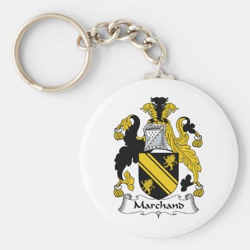 Escudo de la familia de Marchand Llaveros Personalizados