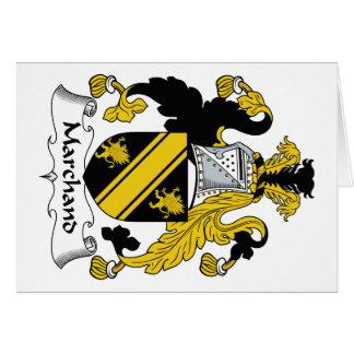 Escudo de la familia de Marchand Tarjeta De Felicitación