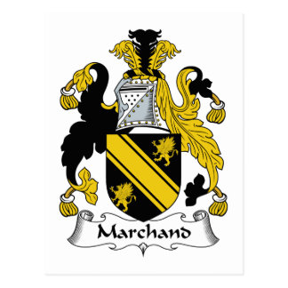 Escudo de la familia de Marchand Tarjeta Postal