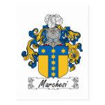 Escudo de la familia de Marchesi Tarjeta Postal