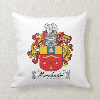 Escudo de la familia de Marchesini Almohada