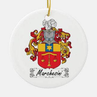 Escudo de la familia de Marchesini Adorno Redondo De Cerámica