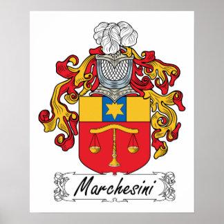 Escudo de la familia de Marchesini Impresiones
