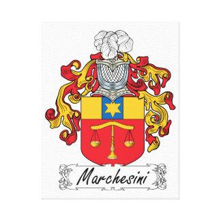 Escudo de la familia de Marchesini Impresión En Lona Estirada