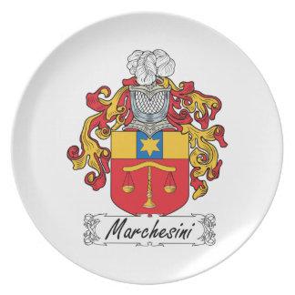 Escudo de la familia de Marchesini Plato Para Fiesta