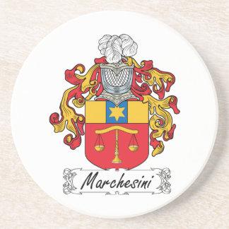 Escudo de la familia de Marchesini Posavasos Cerveza
