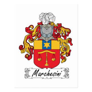 Escudo de la familia de Marchesini Postal