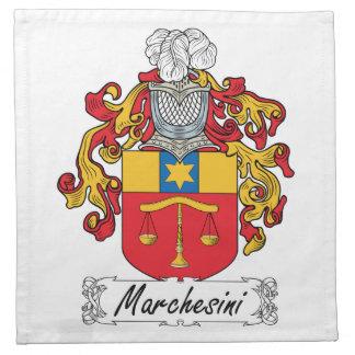 Escudo de la familia de Marchesini Servilleta De Papel
