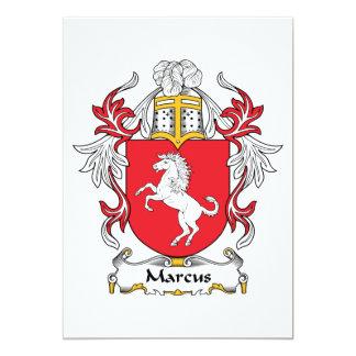 """Escudo de la familia de Marco Invitación 5"""" X 7"""""""