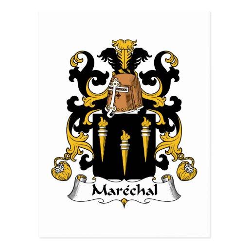 Escudo de la familia de Marechal Postales