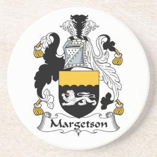 Escudo de la familia de Margetson Posavasos Para Bebidas